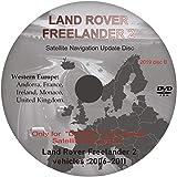 Navegación Sat Nav Mapa DVD actualización 2019 - compatible con Land Rove Freelander 2 - Sistema DENSO (Disco B)