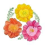 Juego de 6 flores de papel de seda de NICROLANDEE de 24 pulgadas, tamaño grande, hechas a mano, flores de papel gigante para decoración de arco, fiesta de cumpleaños, guardería, pared, Moana