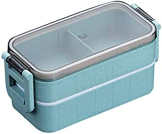Dolloress Bento Box Lunch Box 2 Layers with Chopsticks Holder and Lid Microwave Safe for Kids Children Adults School Office