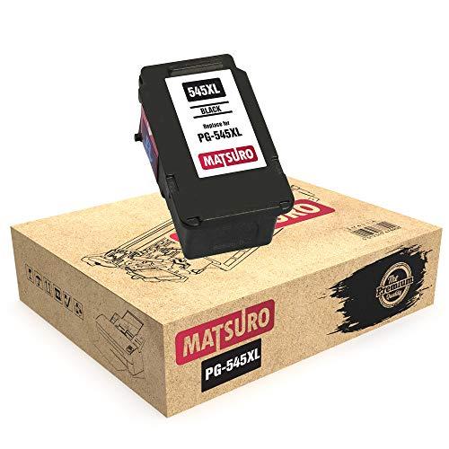 Matsuro Reemplazo de cartucho de tinta remanufacturado para CANON PG-545XL PG-545 Envase de 1 Negro