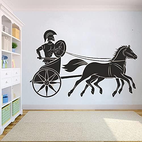 Antigua Grecia griego espartano guerrero soldado caballo guerra carro vinilo pared pegatina dormitorio sala de estar gimnasio Club Oficina decoración del hogar Mural