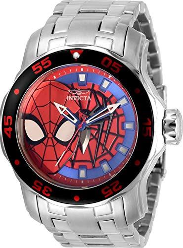 Invicta Marvel Men's 48mm Pro Diver Scuba Spiderman Limited Edition Quartz Stainless Steel Bracelet Watch