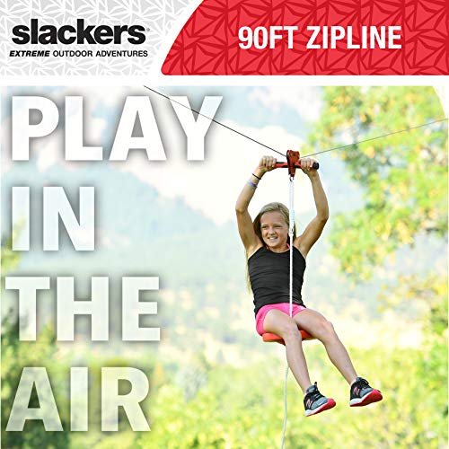 Slackers 90' Zipline Eagle Series w/Spring Brake Kit