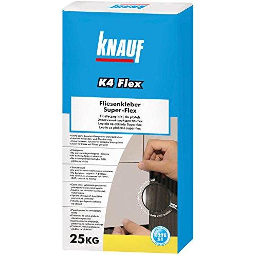 KNAUF K4 Fliesenkleber SUPER Flexkleber Dünnbettmörtel Flexmörtel Kleber Fliesen