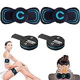Electromagnetic Wave Leg Massager, 6 Modes Slimming EMS Arm Shaper Adjustable, Mini Cervical Massager,Leg Massager for Neck Shoulder Back Waist Arms (Battery 2PCS)
