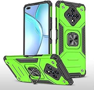 الهاتف - Armor For Infinix Zero 8 8i Hot 9 10 play Nóte 7 Lite Hard Case + Glass Tempered Glass Car Holder Ring Protective...