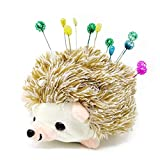 Honbay Cute Furry Hedgehog Shape Pin Cushion Fabric Pin Holder for Sewing or DIY Crafts