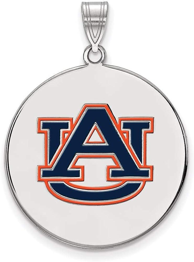 Charm Pendant White Sterling Silver NCAA Auburn Alabama Atlanta Mall gift Universi