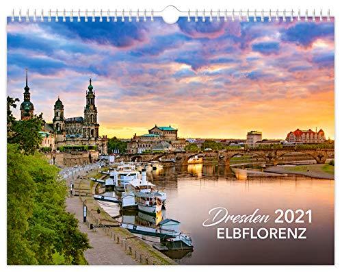Kalender Dresden Elbflorenz 2021   40 x 30 cm schwarzes Kalendarium