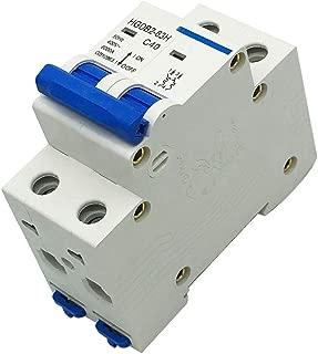 COMOK HGDB2-63H C40 Series MCB Miniature Circuit Breaker, Two 2 Poles DIN Rail Mount Miniature Circuit Breaker 2P, AC, 400V, 40 Amp, 6000 Amp