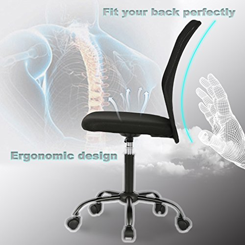 Ergonomic Armless Office Chair