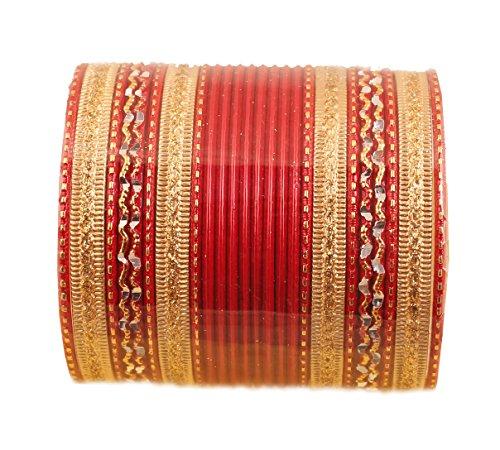 Touchstone 2 Dutzend Armreifsammlungslegierungsmetall maserte spezielle Armreifarmbänder des heißen roten Entwerferschmucks für Damen 2.75 Set 2 groß rot