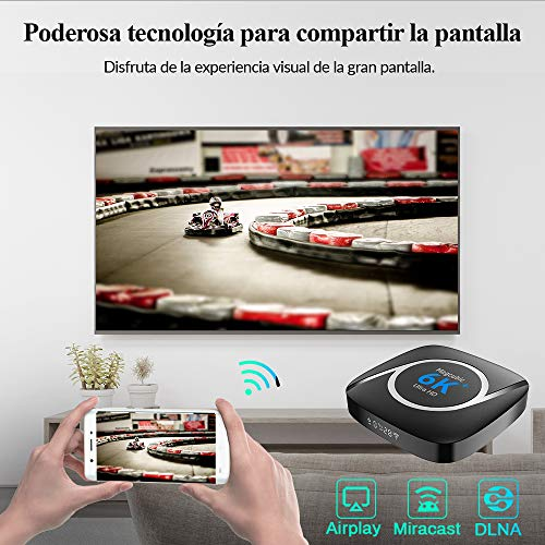 Android Tv Box 10.0, TV Box All Winner H616 [4GB RAM 64GB ROM] 2,4 G / 5,8 G Dual Band WiFi mit Bluetooth 5.0 Konverter TV-Box Unterstützung 3D 4K 6K Ultra HD H.265 mit Mini-Tastatur Set Top TV Box