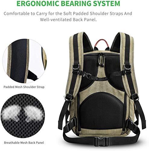 Camera Backpack Bag for DSLR/SLR Mirrorless Camera, Zecti Large Canvas Camera Bag...