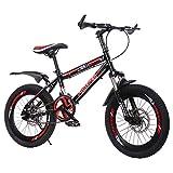 Axdwfd Infantiles Bicicletas 18 Pulgadas De Bicicletas De Montaña, 7 Velocidad del Cambio De Marchas, Tenedor De Suspensión, Niños Bici De Hombre Bicicletas