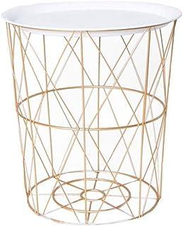 Meubles Modernes Table Basse Table d'appoint Table Basse en Fer Nordique Table d'appoint de Rangement pour Salon Organisat...
