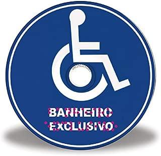 Placa de banheiro exclusivo para cadeirante em Braille