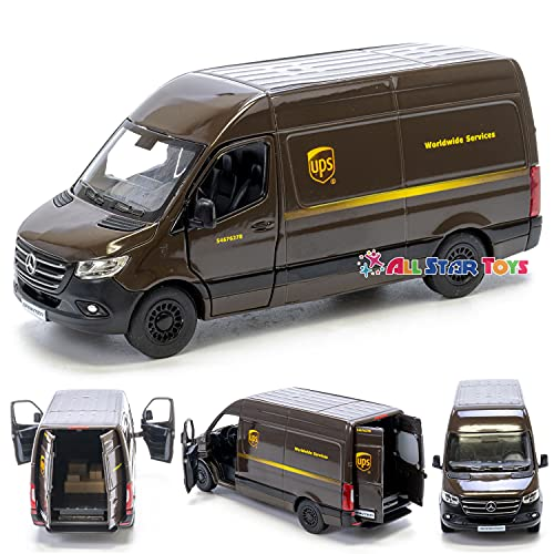 KiNSMART Mercedes-Benz Sprinter UPS Edition Delivery Van 1:48 Scale