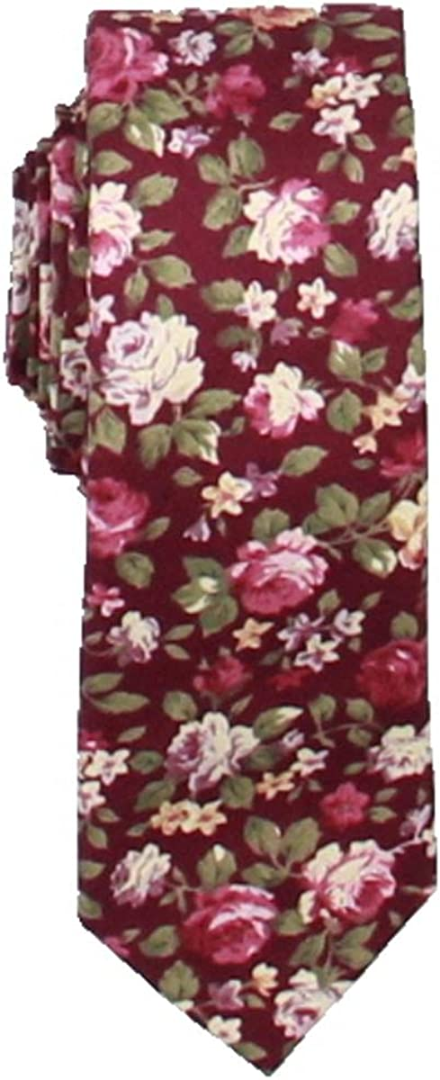 Bar III Mens Chester Floral usi Neck Tie