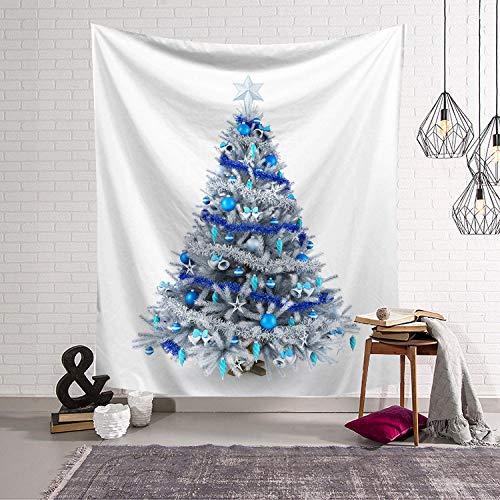 AdoDecor Christmas Trees Tapestry Fabric blanket Yoga Wall Hanging Art Large Beach Towel Carpet Wall Rug Christmas Decor 150x180CM