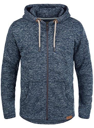 !Solid Leki Herren Fleecejacke Sweatjacke Jacke Mit Kapuze Und Melierung, Größe:M, Farbe:Insignia Blue Melange (8991)