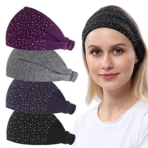 RITOPER Wide Headbands for Women, Elastic Solid Cloth Headbands Hair Bands for...