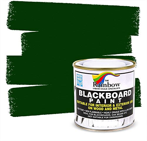 Chalkboard Blackboard Paint - Green 8.5oz - Brush on Wood, Metal, Glass, Wall, Plaster Boards Sign, Frame or Any Surface. Use with Chalk Pen Wet Erase, Safe and Non-Toxic - Matte Finish