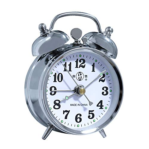 Alarm Clock Mechanical Wind Twin Bell Double Bell