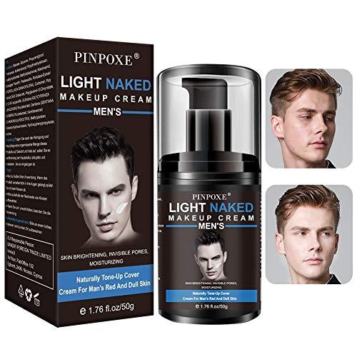 Primer Makeup, Flüssige Grundierung,Haut Concealer, Männer light makeup Lazy Cream,Erhelle das Gesicht Langlebig und Perfekte Abdeckung,Feuchtigkeits Ölkontrolle für alle Hauttypen geeignet.
