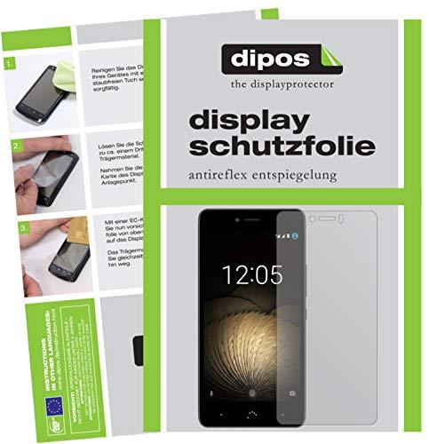 dipos I 2X Schutzfolie matt kompatibel mit BQ Aquaris U Lite Folie Bildschirmschutzfolie