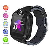 Kinder Smartwatch, Smart Watch Phone mit Musik-Player, SOS, 1,44 Zoll LCD-Touchscreen-Uhr mit Digitalkamera, Spielen, Wecker für Jungen und Mädchen (Schwarz)