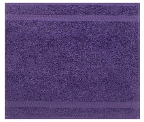 Betz Serviette débarbouillette Lavette Taille 30 x 30 cm 100% Coton Premium Couleur Violet