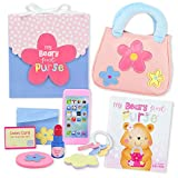My Beary First Purse 9-Piece Gift Set - Includes Purse, Storybook, and Accessories - Great Pretend Play Toy for Toddler and Little Girls Ages 1 2 3 4 Years Old
