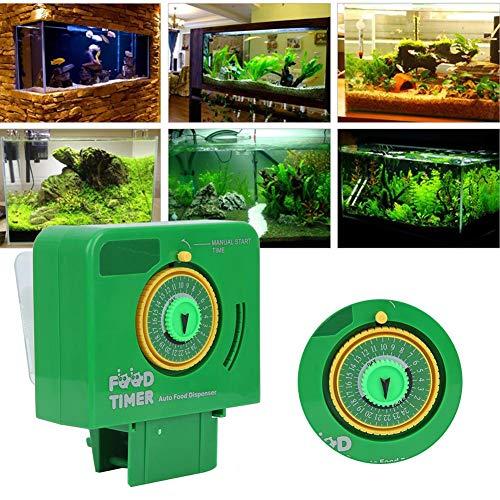 Pssopp Acquario Alimentatore Automatico di Pesci Timer per Carri Armati Alimentatore per Pesci Distributore di Alimenti per Pesci Alimentatori Automatici per Pesci in plastica per Vacanze estive
