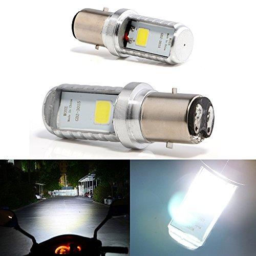 Bulbos de Grandview BA20D LED, bulbos de la linterna delantera de la motocicleta BA20D de 2pcs blancos, bulbos de la linterna de la motocicleta de la MAZORCA LED alta/baja del haz H616 (DC 9-80V)
