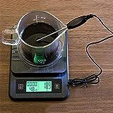 ReedG Escala de Cocina Digital Escala de Cocina electrónica con el termómetro de Alta precisión de múltiples Funciones del hogar Escala de Alimentos multifuncionales (Color : Black, Size : 3KG)