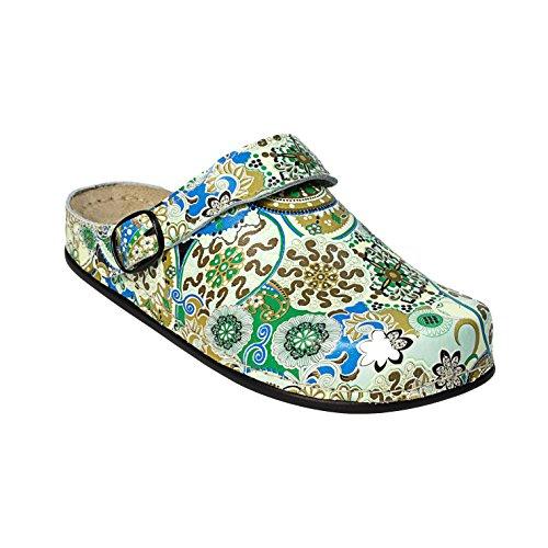 AWC-Footwear Deko-Line - Oriental, Unisex Arbeitsschuhe, Mehrfarbig (pink/gelb grün/blau), 41 EU (7.5 UK)