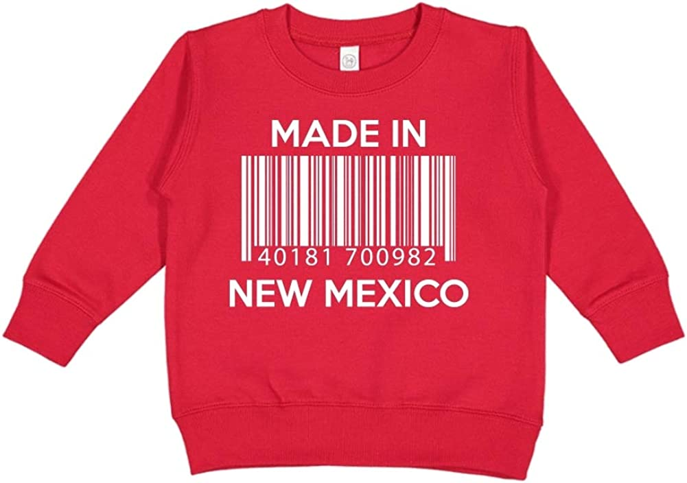 Barcode Made in New Mexico Toddler//Kids Sweatshirt