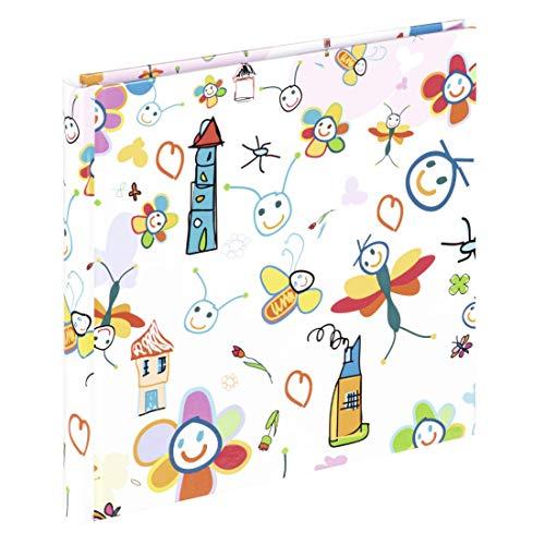 Hama Kinderalbum (Fotoalbum mit 30 weißen Seiten, Fotobuch zum Selbstgestalten und zum Einkleben, Album für Jungen und Mädchen) bunt