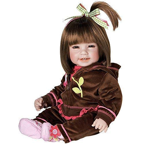 Adora Toddler Doll Workout Chic with sporty brown velour two piece and coordinating sneakers