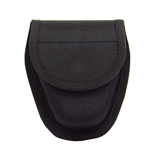 TTGTACTICAL Hidden Snap Handcuff Case Law Enforcement Military Standard Cuff Pouch with Belt Loop Black