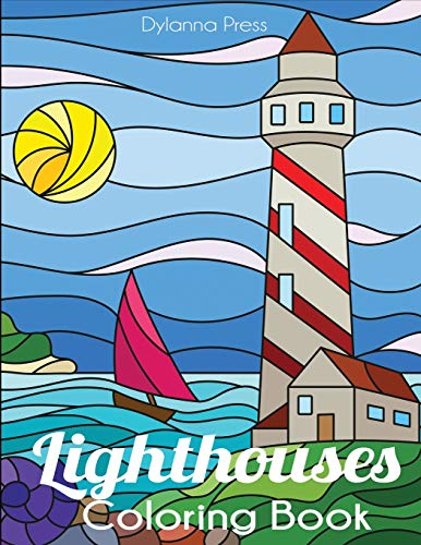 Lighthouses Coloring Book: A Lighthouse Coloring Book for Adults