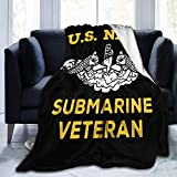 Los niños Duermen insomnioUs Navy Submarine Warfare Veteran Throw Blanket Ultra-Soft Micro Fleece Manta Manta de películas para Cama Sofá Sala de Estar