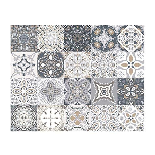 GuoQiang Zhou Vinilo adhesivo de PVC anticolisión para azulejos de pared, diseño de líneas de cintura, autoadhesivo, diagonal, cerámica, 20 unidades (color: A, tamaño: 10 x 10 cm)