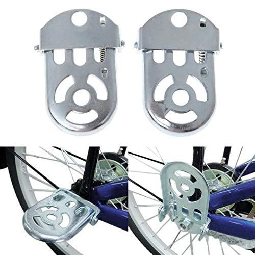 LnLyin Fahrrad Rücksitz Zubehör Set, Fahrrad Hinten Pedal Kind Sicherheit Fahrrad Rücksitzkissen Armlehne Fußstütze Set