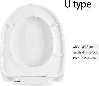 TYJ-jp トイレカバートイレシートユニバーサルトイレカバー家庭用ポンプトイレカバー厚い昔ながらのU、O、V、トイレシート (Color : White Lower lock, Size : U)