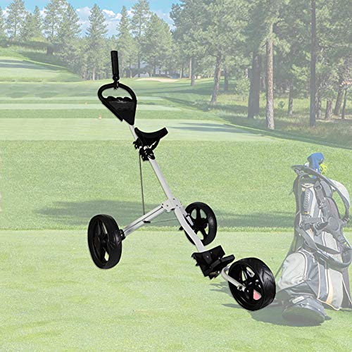 WLKQ Golf Push Trolley | Golf Cart | Golfwagen Trolley Klappbar | Golftrolley 3 Rad | Golftrolley Elektro