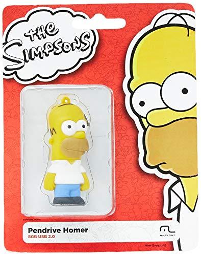 Pen Drive Homer Simpsons 8GB USB Leitura 10MB/s e Gravação 3MB/s Multilaser - PD070