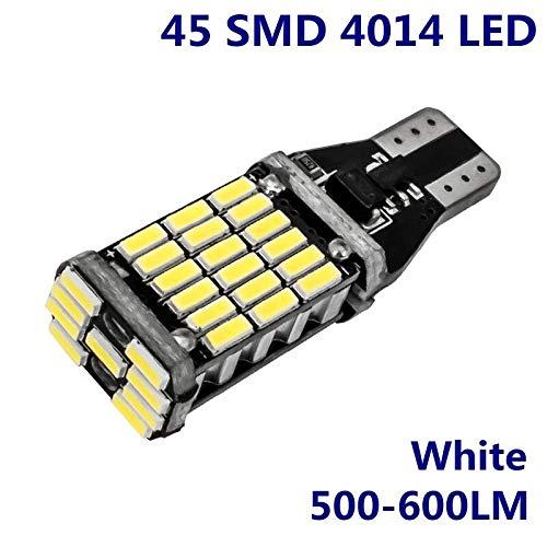 Sconosciuto 2PCS T15 W16W 921 912 Super Luminoso 1200Lm 3030 SMD LED CANBUS No OBC Error Auto Backup Backup lampadine Xenon Bianco