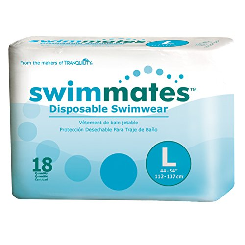 Swimmates Disposable Swim Diapers, Large, Case/72 (4/18s)